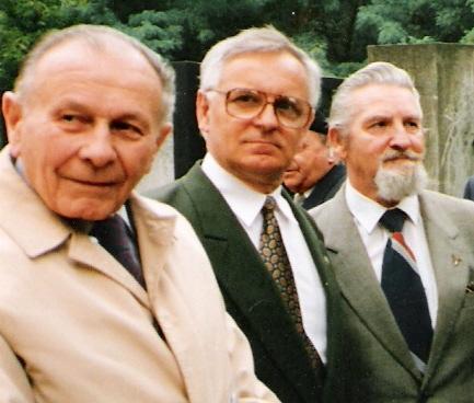 Rtm. Tadeusz Bączkowski, Włodzimierz Majdewicz i Bogusław Mędrzycki