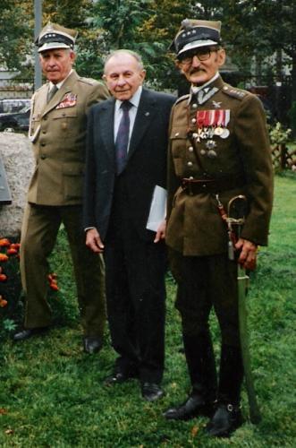 rtm.Tadeusz Bączkowski z rtm.Włodimierzem Bernardem